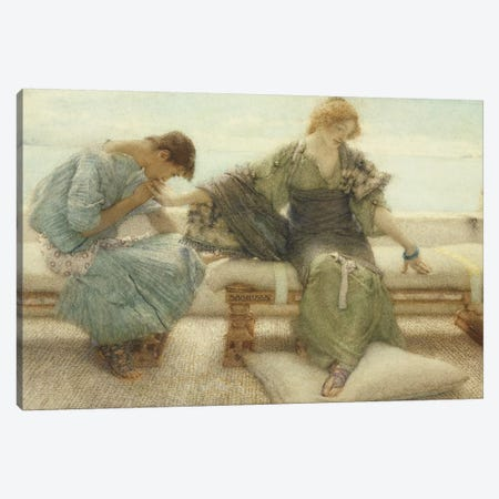 Ask me no more....for at a touch I yield, 1886  Canvas Print #BMN1583} by Sir Lawrence Alma-Tadema Canvas Print