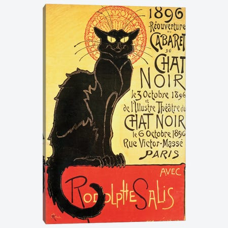 Reopening of the Chat Noir Cabaret, 1896  Canvas Print #BMN1584} by Theophile Alexandre Steinlen Canvas Artwork