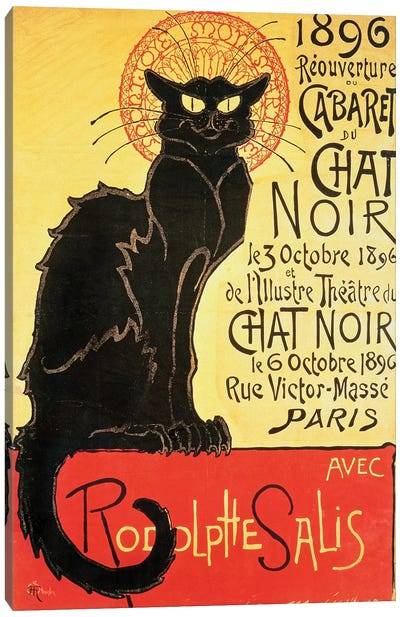 Reopening of the Chat Noir Cabaret, 1896  Canvas Art Print