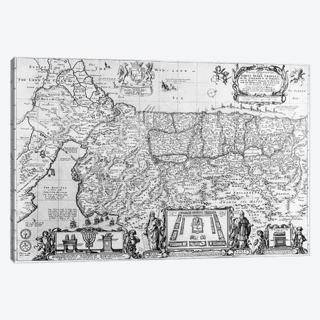 Forty Years Travels of the Children of Israel  Canvas Print #BMN1585} by English School Canvas Artwork