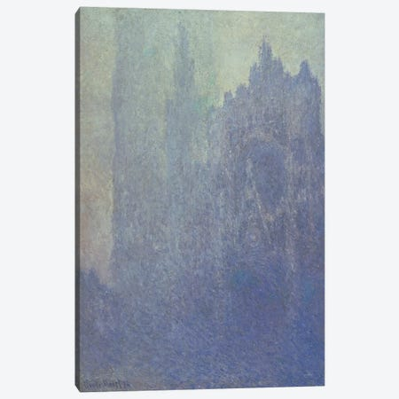 Rouen Cathedral, Foggy Weather, 1894  Canvas Print #BMN1586} by Claude Monet Canvas Art