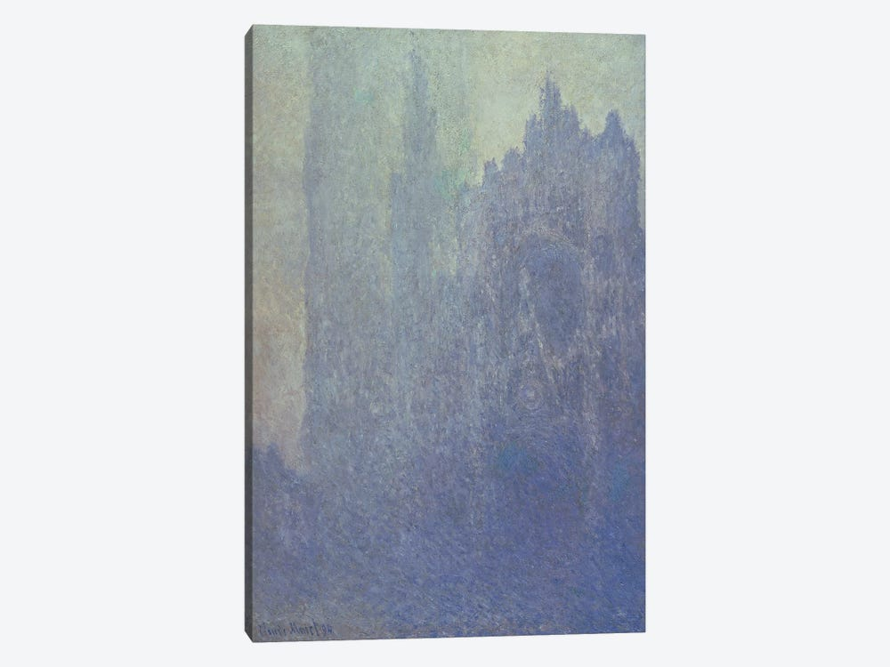 Rouen Cathedral, Foggy Weather, 1894  by Claude Monet 1-piece Canvas Art Print