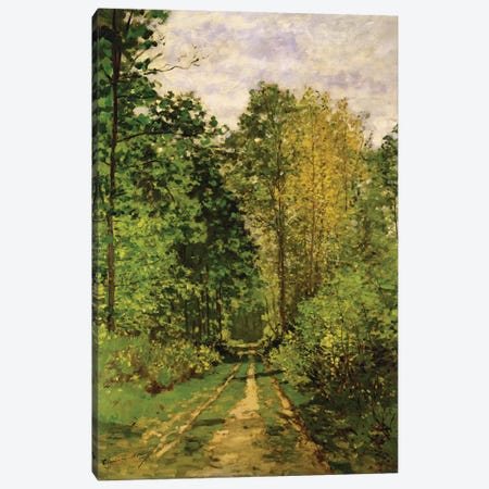 Wooded Path, 1865  Canvas Print #BMN1587} by Claude Monet Canvas Wall Art