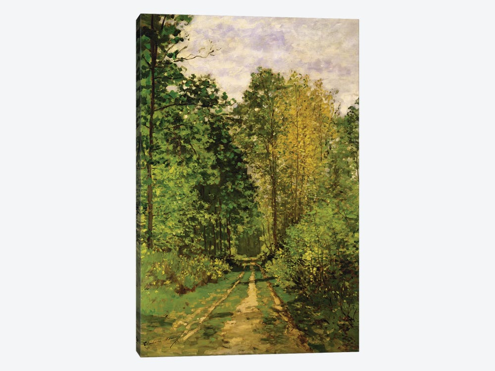 Wooded Path, 1865  by Claude Monet 1-piece Canvas Wall Art