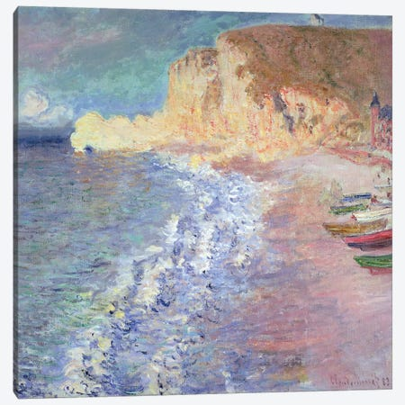 Morning at Etretat, 1883  Canvas Print #BMN1589} by Claude Monet Canvas Art Print