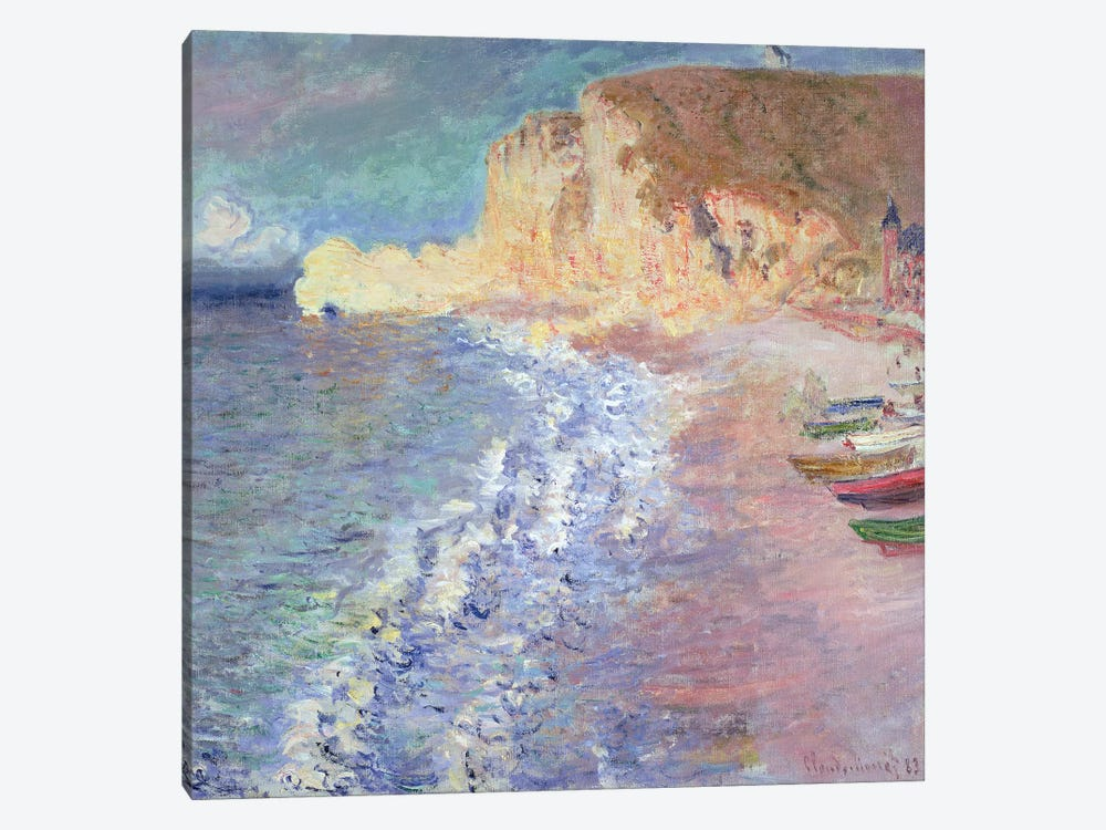 Morning at Etretat, 1883  by Claude Monet 1-piece Canvas Wall Art