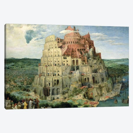 Tower of Babel, 1563   Canvas Print #BMN158} by Pieter Brueghel the Elder Canvas Artwork