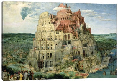 Tower of Babel, 1563   Canvas Art Print