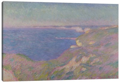 The Cliffs Near Dieppe, 1897 Canvas Art Print