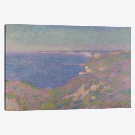 The Cliffs Near Dieppe, 1897  Canvas Print #BMN1590} by Claude Monet Canvas Wall Art