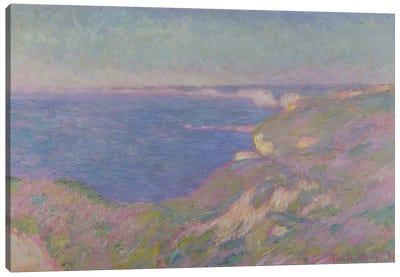 The Cliffs Near Dieppe, 1897  Canvas Art Print