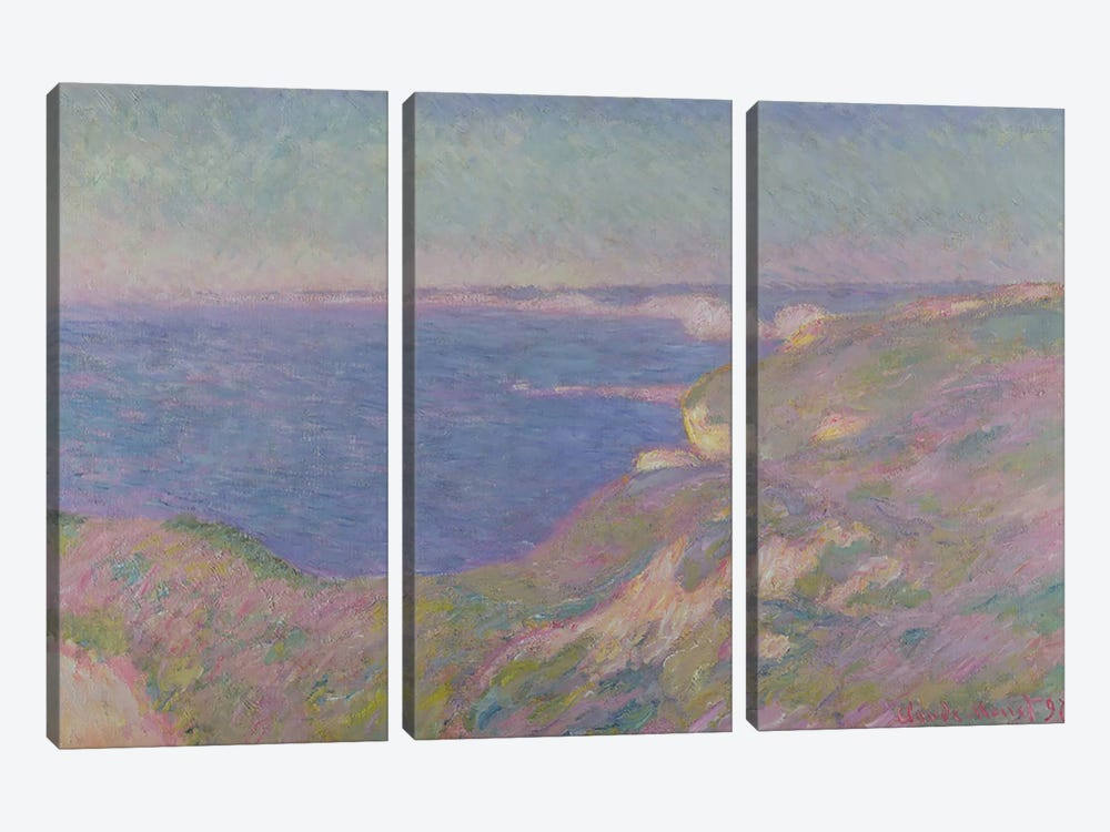 The Cliffs Near Dieppe, 1897  by Claude Monet 3-piece Canvas Artwork