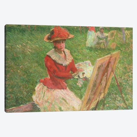 Blanche Hoschede  Canvas Print #BMN1591} by Claude Monet Canvas Art