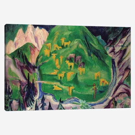 Field of Livestock, 1918  Canvas Print #BMN1598} by Ernst Ludwig Kirchner Canvas Art