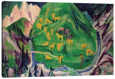Field of Livestock, 1918  Canvas Art Print