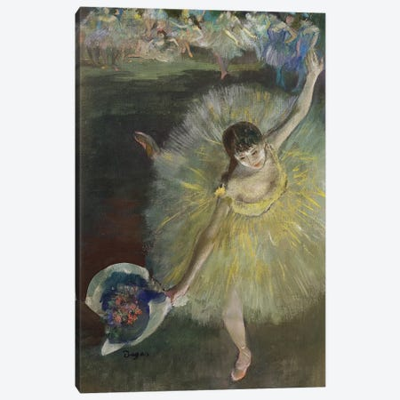 End of an Arabesque, 1877  Canvas Print #BMN159} by Edgar Degas Canvas Wall Art