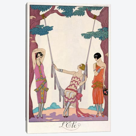 Summer, from 'Gazette du Bon Ton', 1925 Canvas Print #BMN15} by George Barbier Canvas Art