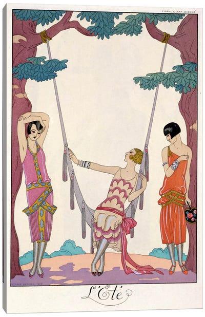 Summer, from 'Gazette du Bon Ton', 1925 Canvas Art Print