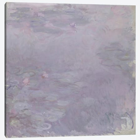 Light-coloured Waterlilies, 1917-25  Canvas Print #BMN1601} by Claude Monet Canvas Wall Art