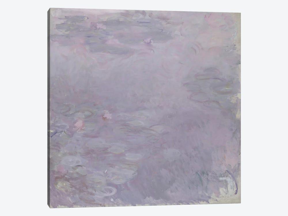 Light-coloured Waterlilies, 1917-25  by Claude Monet 1-piece Canvas Artwork