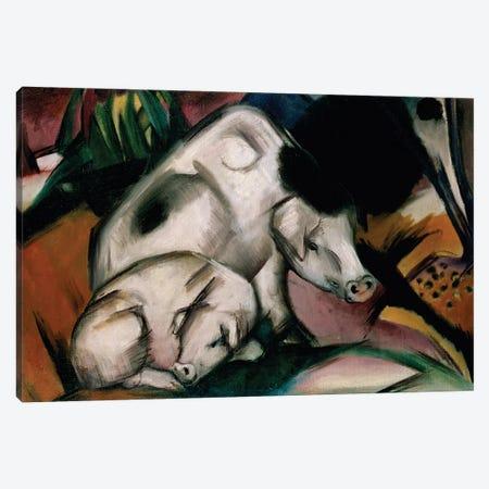 Pigs, c.1912  Canvas Print #BMN1603} by Franz Marc Canvas Art