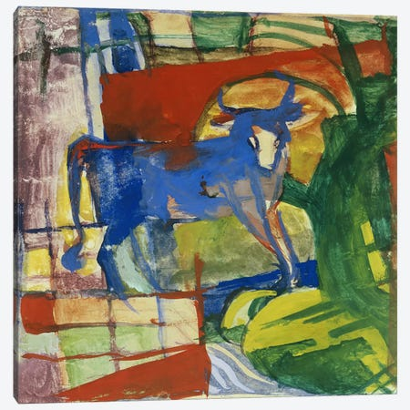 Blue Cow, 1914  Canvas Print #BMN1604} by Franz Marc Canvas Print
