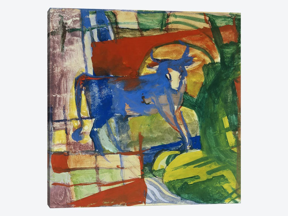 Blue Cow, 1914  by Franz Marc 1-piece Canvas Art Print
