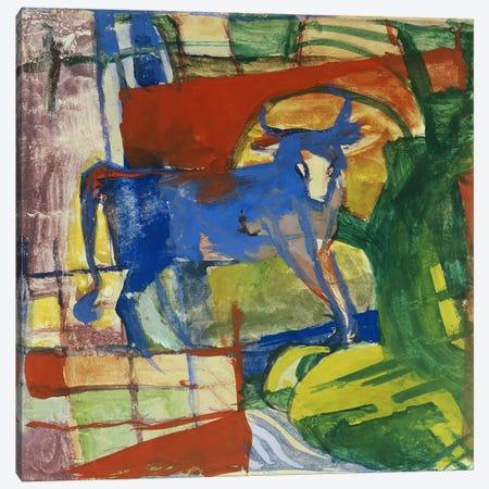 Blue Cow, 1914  Canvas Print #BMN1604} by Franz Marc Canvas Print