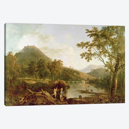Dinas Bran from Llangollen, 1770-71  Canvas Print #BMN1606} by Richard Wilson Canvas Art Print