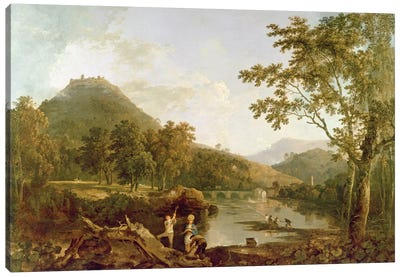 Dinas Bran from Llangollen, 1770-71  Canvas Art Print