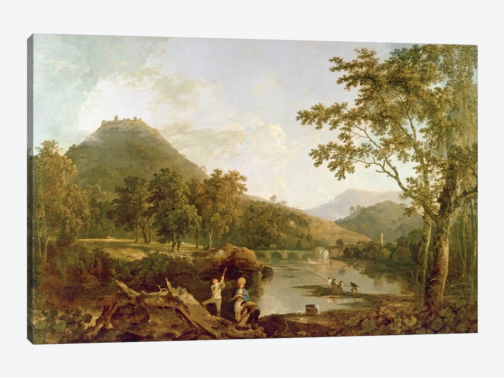 Dinas Bran from Llangollen, 1770-71  by Richard Wilson 1-piece Art Print