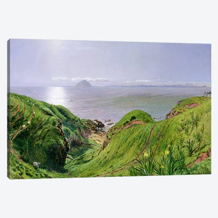 A View of Ailsa Craig and the Isle of Arran, 1860  Canvas Print #BMN1607} by William Bell Scott Art Print