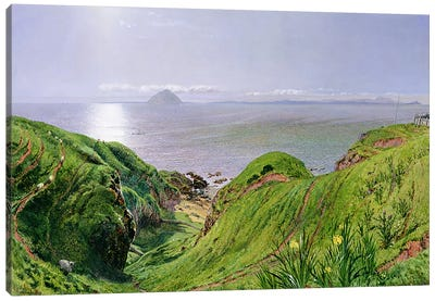 A View of Ailsa Craig and the Isle of Arran, 1860  Canvas Art Print