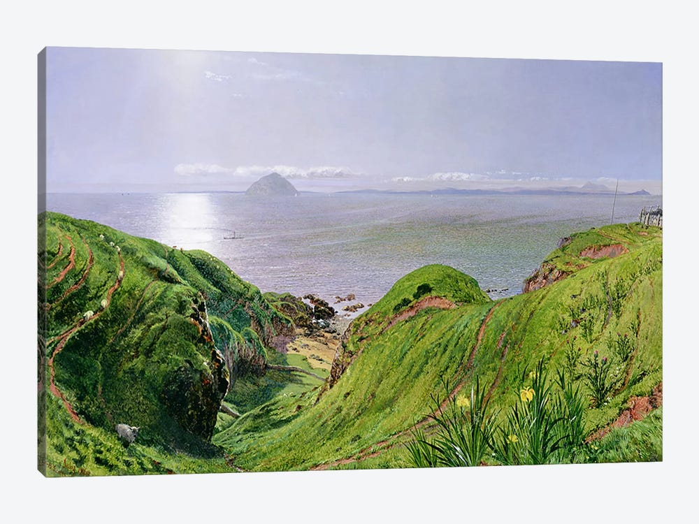 A View of Ailsa Craig and the Isle of Arran, 1860 by William Bell Scott 1-piece Canvas Wall Art