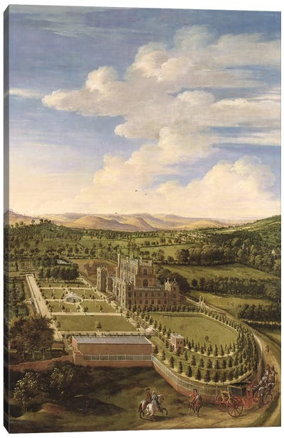 Wollaton Hall and Park, Nottingham, 1697  Canvas Art Print