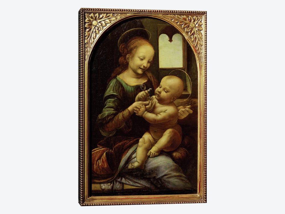 Madonna with a Flower, or Madonna Benois, c.1478  by Leonardo da Vinci 1-piece Canvas Wall Art
