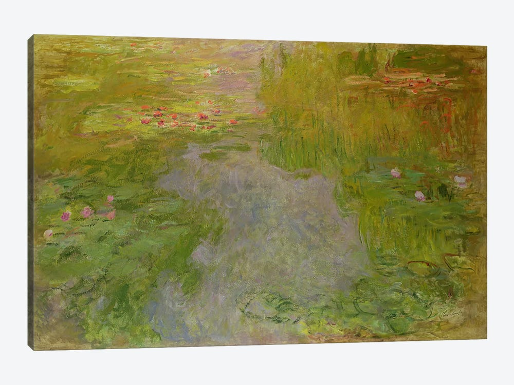 Waterlilies, c.1919 by Claude Monet 1-piece Canvas Print