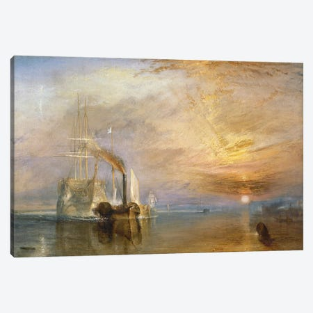 The Fighting Temeraire, 1839  Canvas Print #BMN162} by J.M.W. Turner Canvas Print