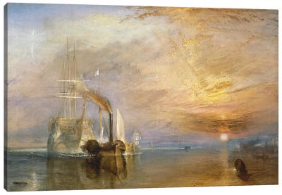 The Fighting Temeraire, 1839  Canvas Art Print