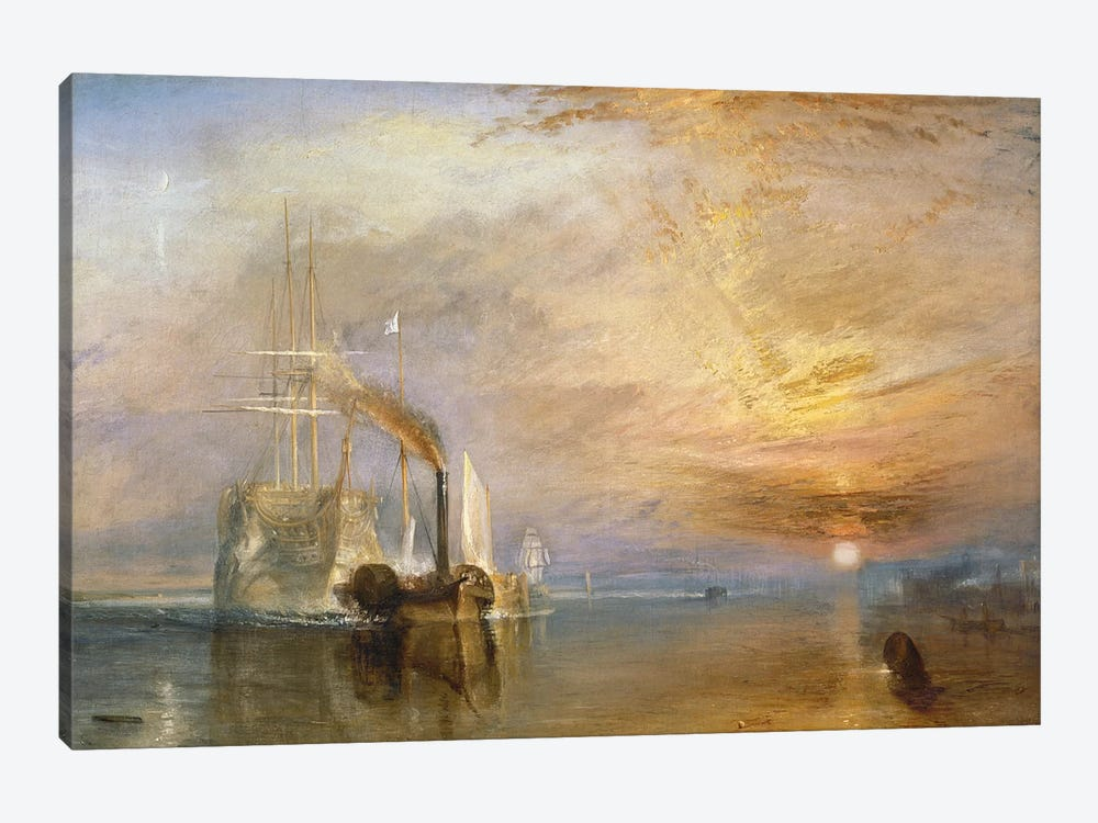 The Fighting Temeraire, 1839 by J.M.W. Turner 1-piece Canvas Art