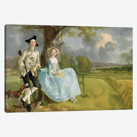 Mr and Mrs Andrews, c.1748-9  Canvas Print #BMN163} by Thomas Gainsborough Canvas Art Print