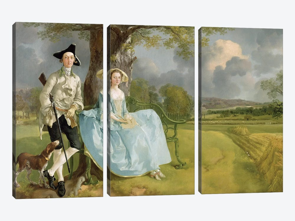 Mr and Mrs Andrews, c.1748-9  by Thomas Gainsborough 3-piece Art Print