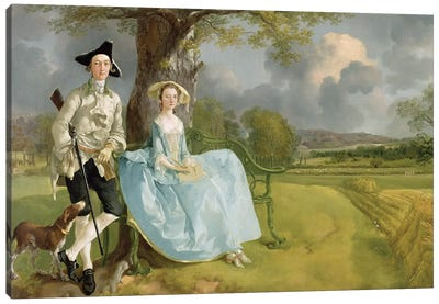 Mr and Mrs Andrews, c.1748-9  Canvas Art Print
