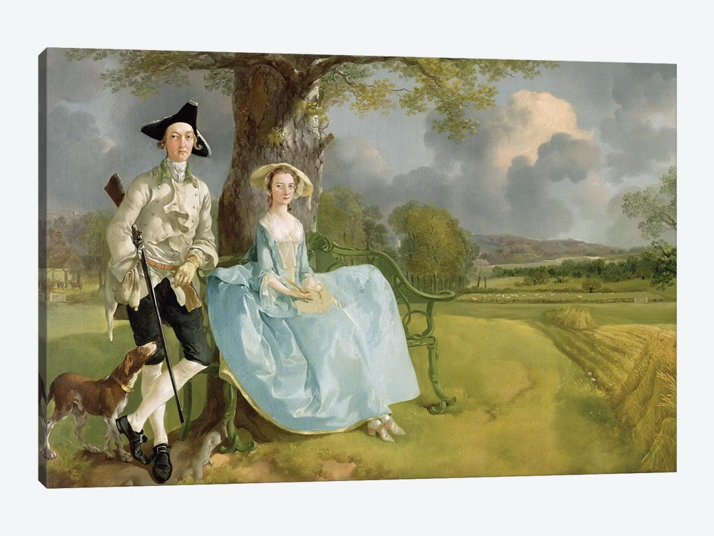 Mr and Mrs Andrews, c.1748-9  by Thomas Gainsborough 1-piece Canvas Print