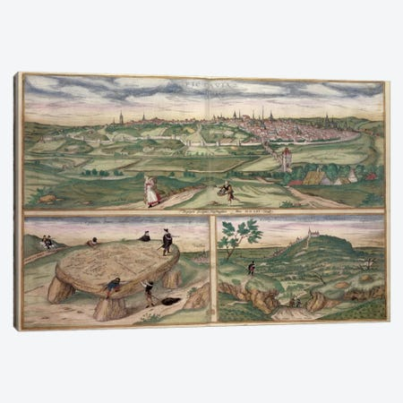 Map of Poitiers, from 'Civitates Orbis Terrarum' by Georg Braun  Canvas Print #BMN1640} by Joris Hoefnagel Canvas Wall Art