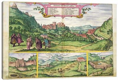 View of the Alhambra, from 'Civitates Orbis Terrarum' by Georg Braun  Canvas Art Print