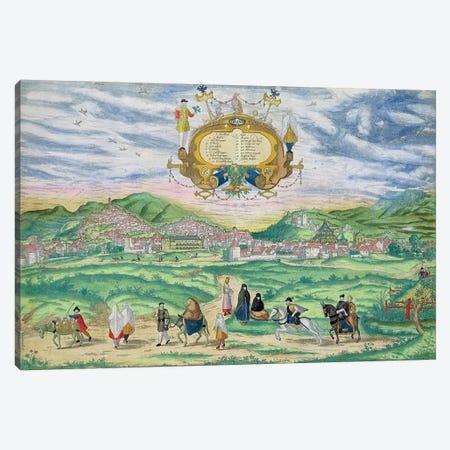 Map of Granada, from 'Civitates Orbis Terrarum' by Georg Braun  Canvas Print #BMN1645} by Joris Hoefnagel Canvas Art Print