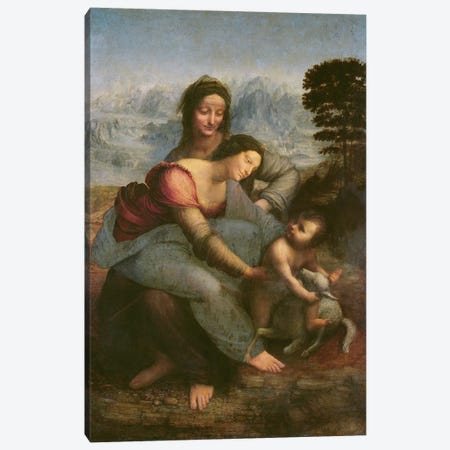 Virgin and Child with St. Anne, c.1510  Canvas Print #BMN165} by Leonardo da Vinci Canvas Wall Art
