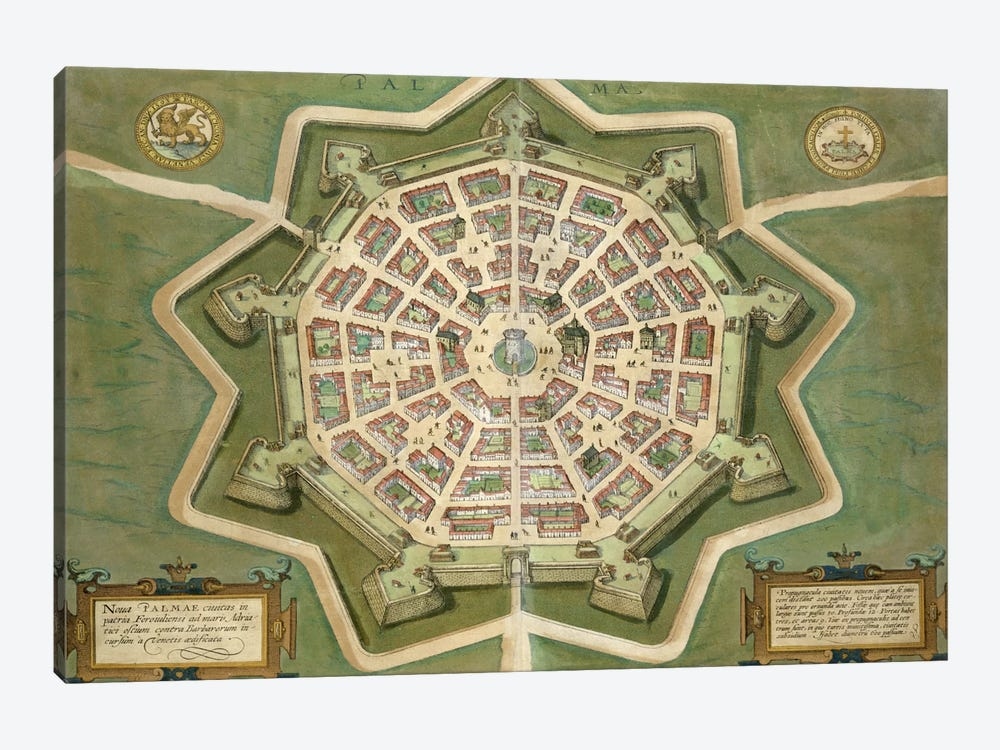 Map of Palma, from 'Civitates Orbis Terrarum' by Georg Braun  by Joris Hoefnagel 1-piece Art Print