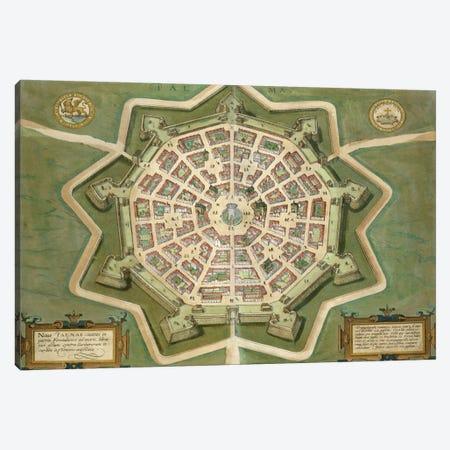 Map of Palma, from 'Civitates Orbis Terrarum' by Georg Braun  Canvas Print #BMN1662} by Joris Hoefnagel Canvas Art